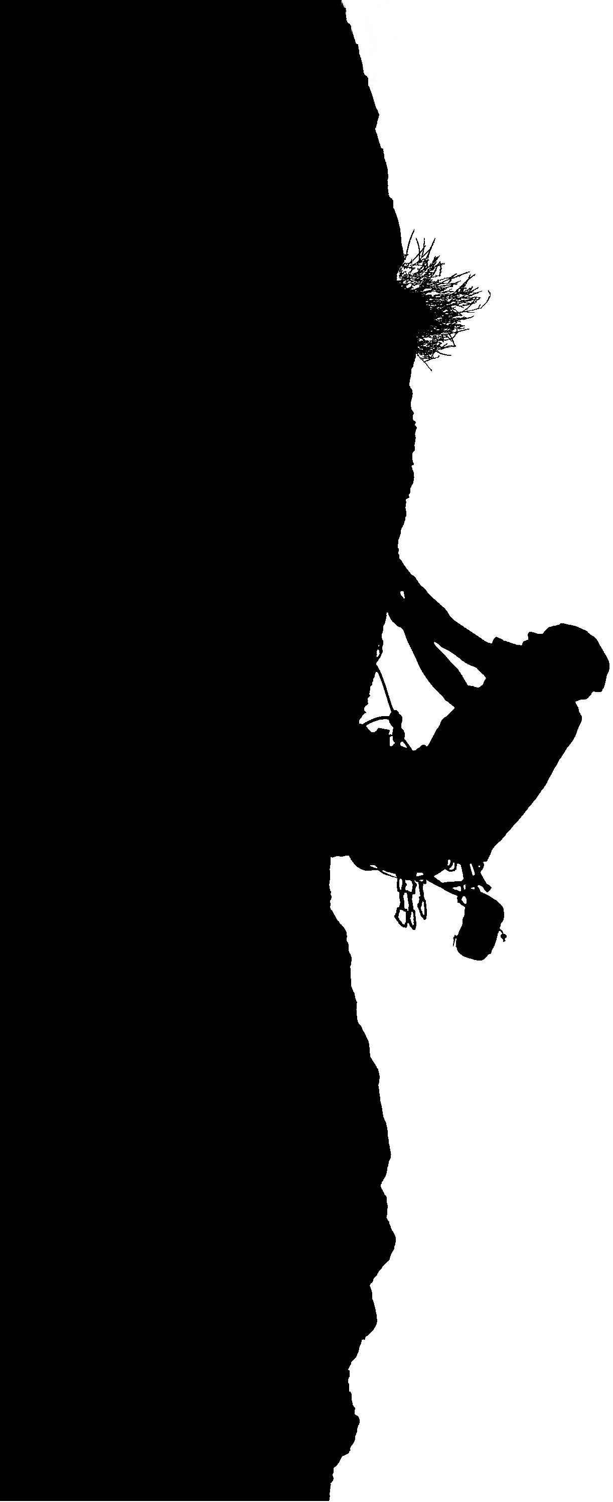 Silhouette grimpeur